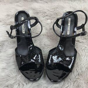 Via Spiga Platform Wedges Black Size 9